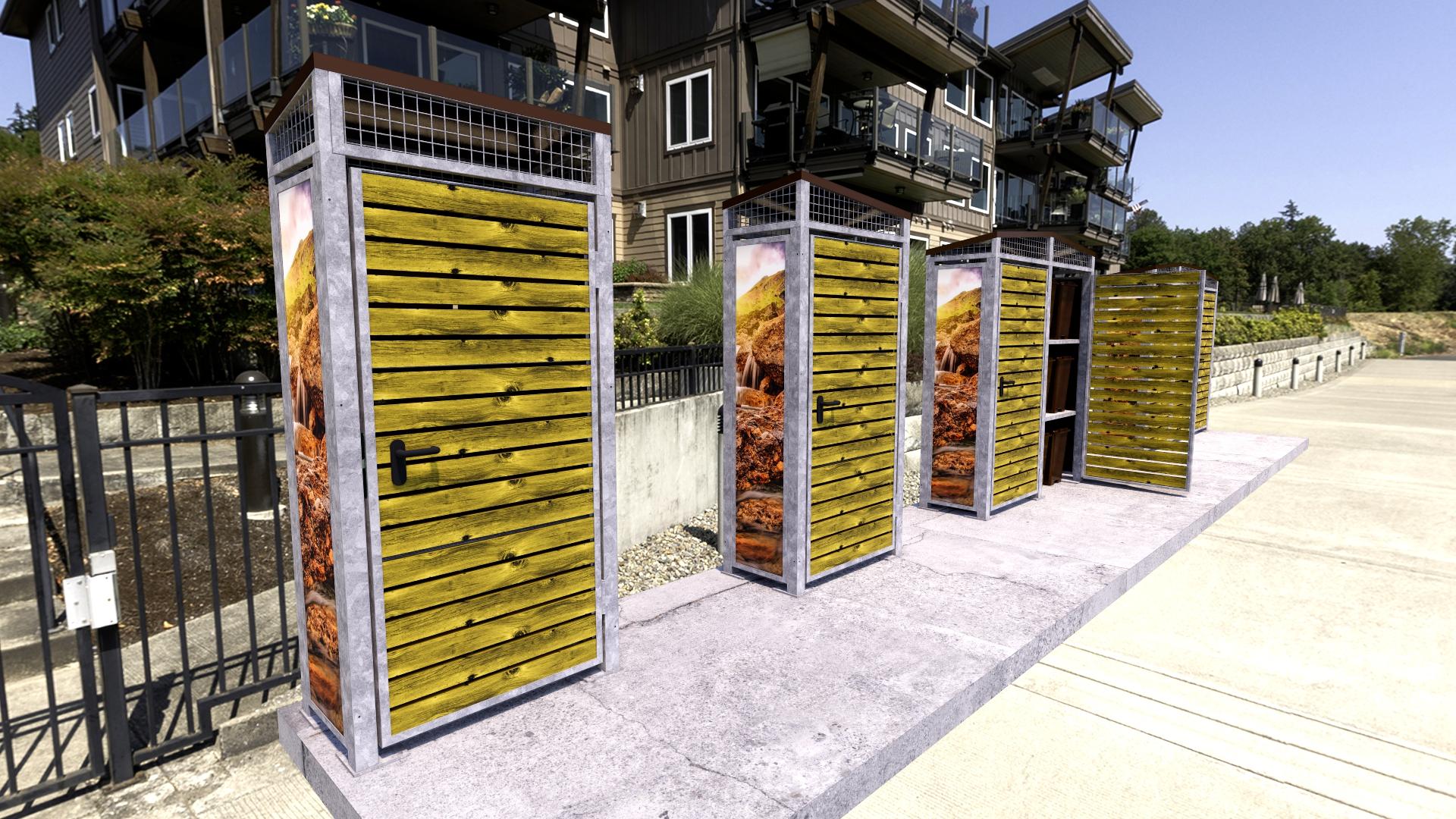 Armarios modulares recogida puerta a puerta disseny barraca