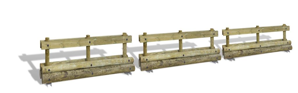valla madera tratada