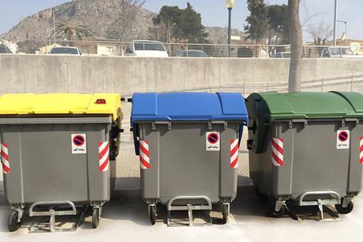 Anclaje para contenedores de basura