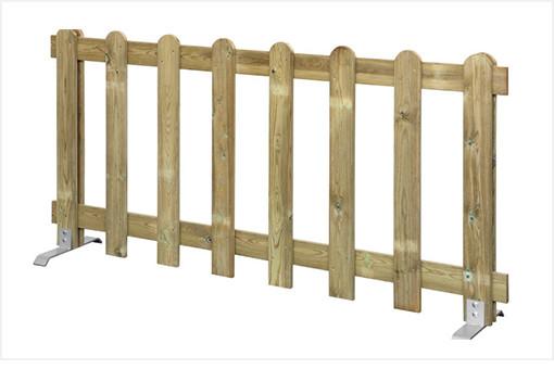 Vallas de madera móviles y extraíbles