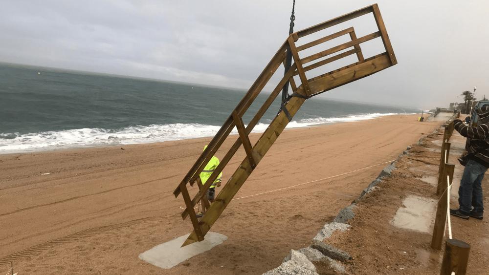 Escales a mida per l'Ajuntament de Pineda de Mar