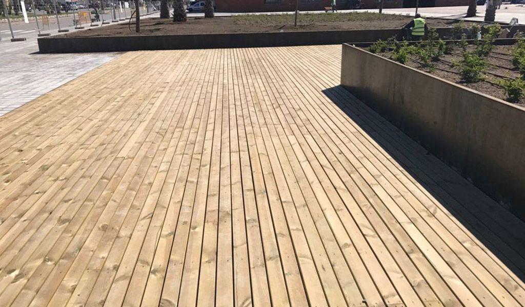 Condicionament d'exteriors al port esportiu de Vilanova i la Geltrú.