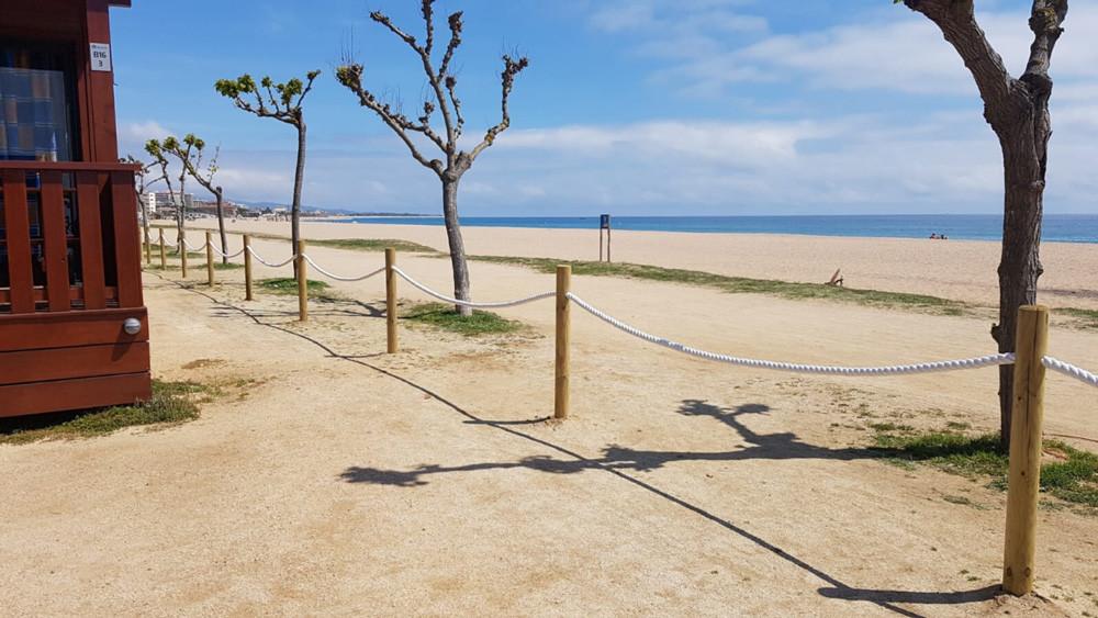 Delimitación del flujo de personas en playas y otras zonas